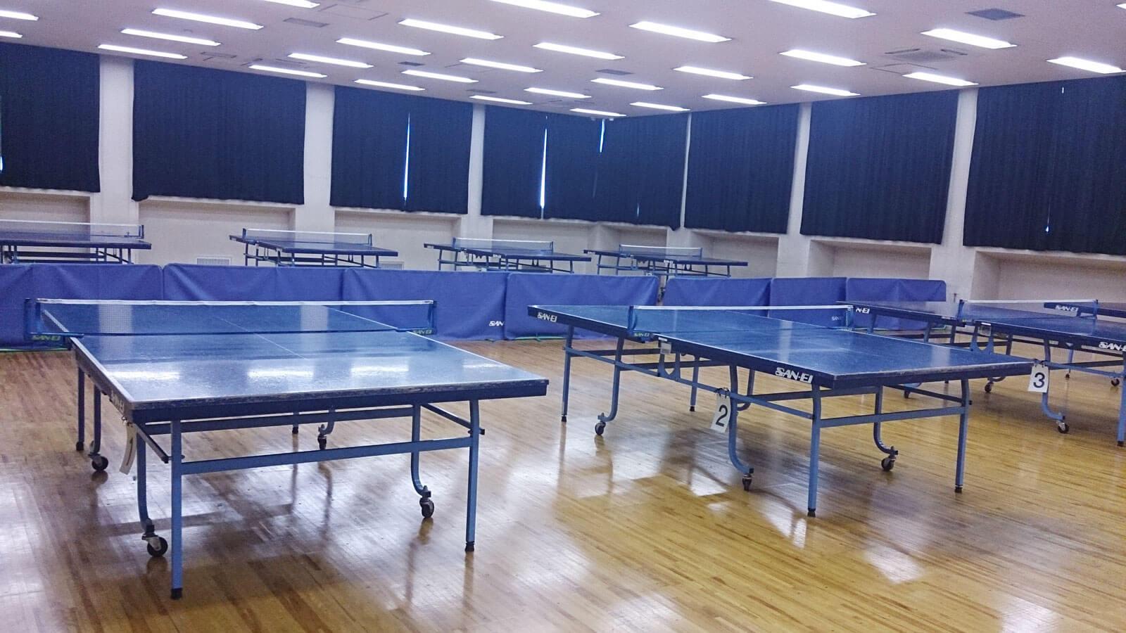 福祉体育館 卓球場